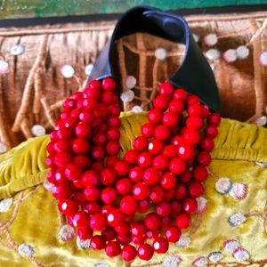 Fairchild Baldwin rare red necklace